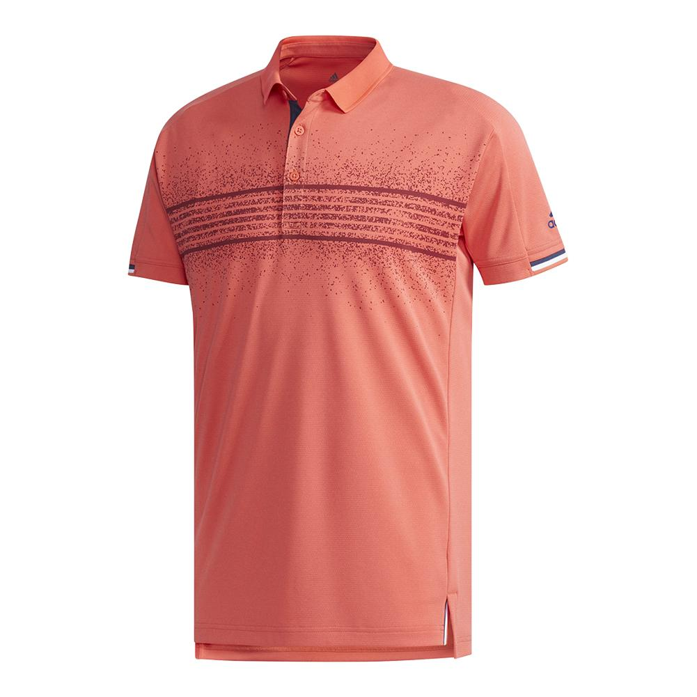 Men's Club Tennis Polo Q2 Trace Scarlet