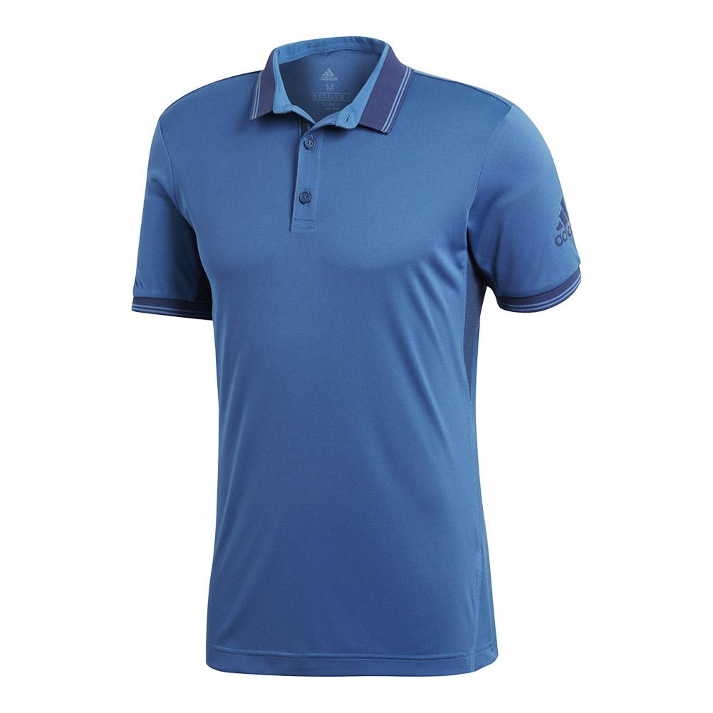Men's Pique Tennis Polo Noble Indigo