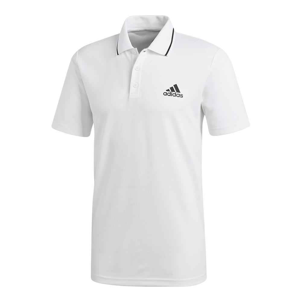 Men's Club Textured Tennis Polo White