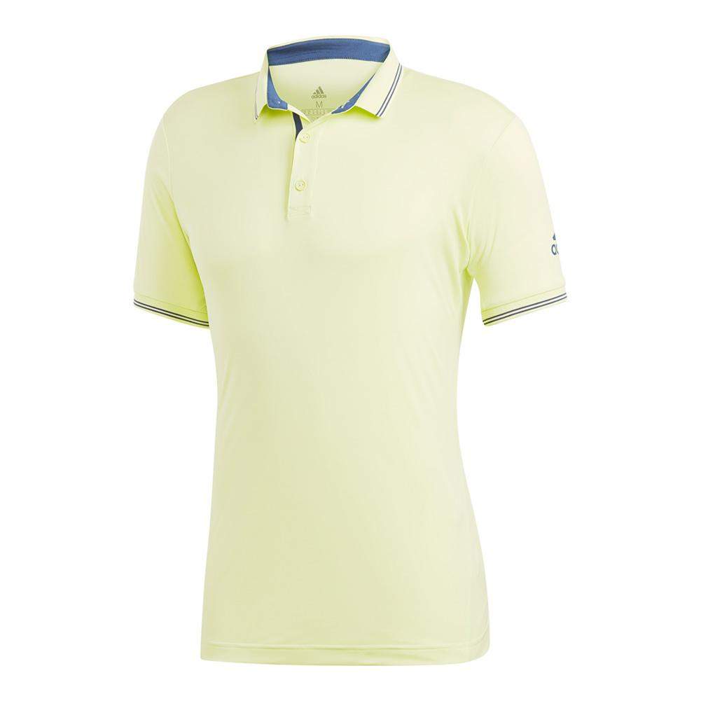 Men's Pique Tennis Polo Semi Frozen Yellow
