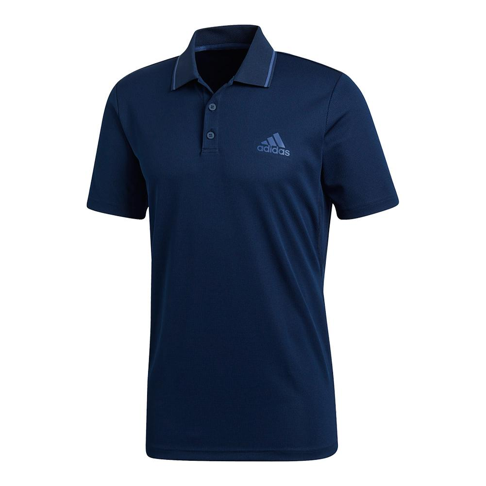 Men's Club Textured Tennis Polo Collegiate Navy