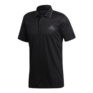 Men`s Club Textured Tennis Polo Black