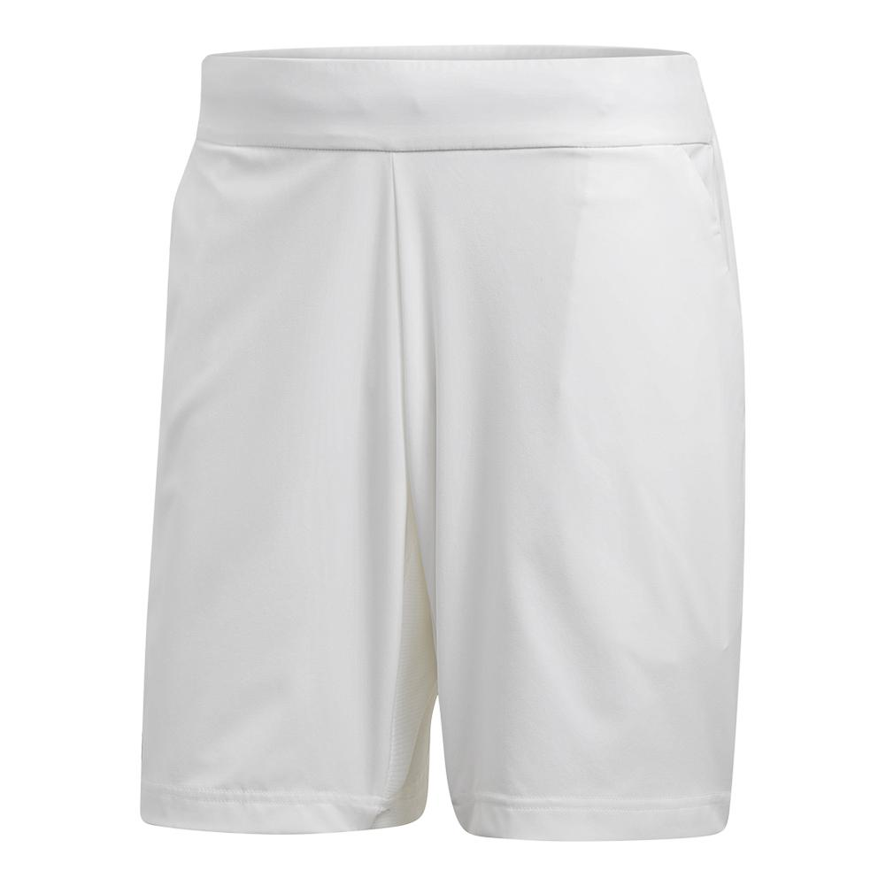Men's Stretch Woven Tennis Short White