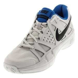 Men`s Air Vapor Advantage Tennis Shoes Vast Gray and Black
