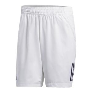 Men`s Club 3 Stripes Tennis Short White and Black
