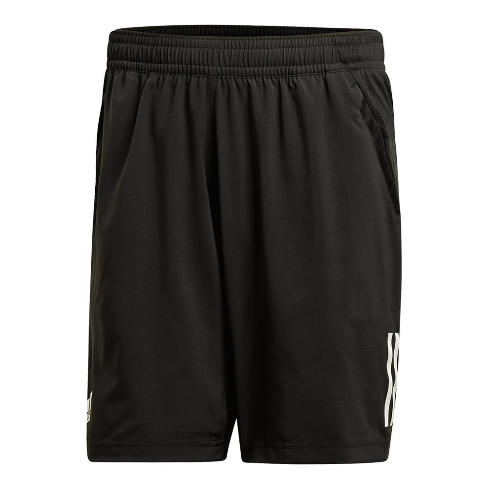 Men's Club 3 Stripes Tennis Short Black