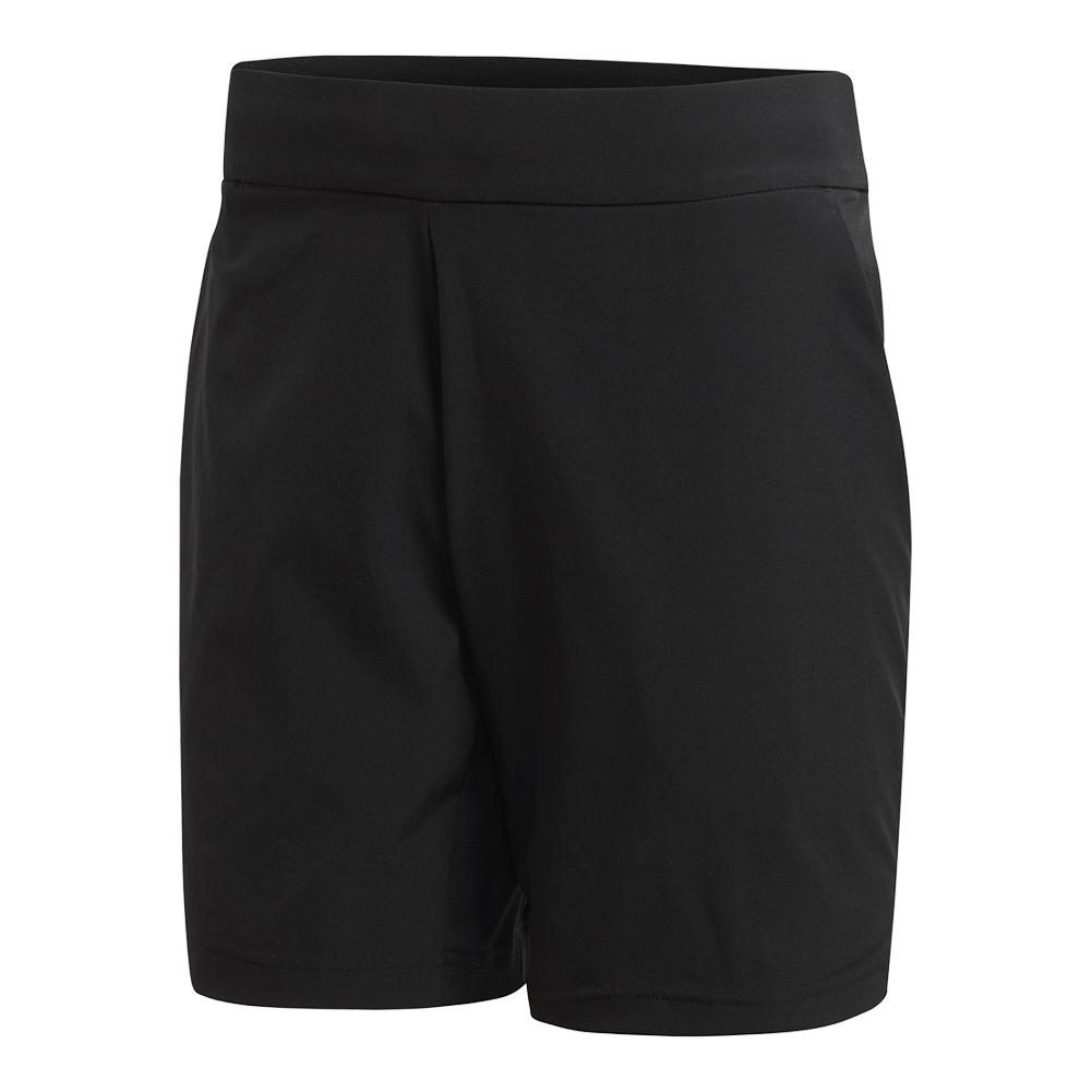 Men's Stretch Woven Tennis Short Black