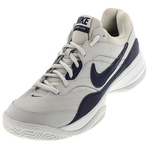 Men`s Court Lite Tennis Shoes Vast Gray and Midnight Navy