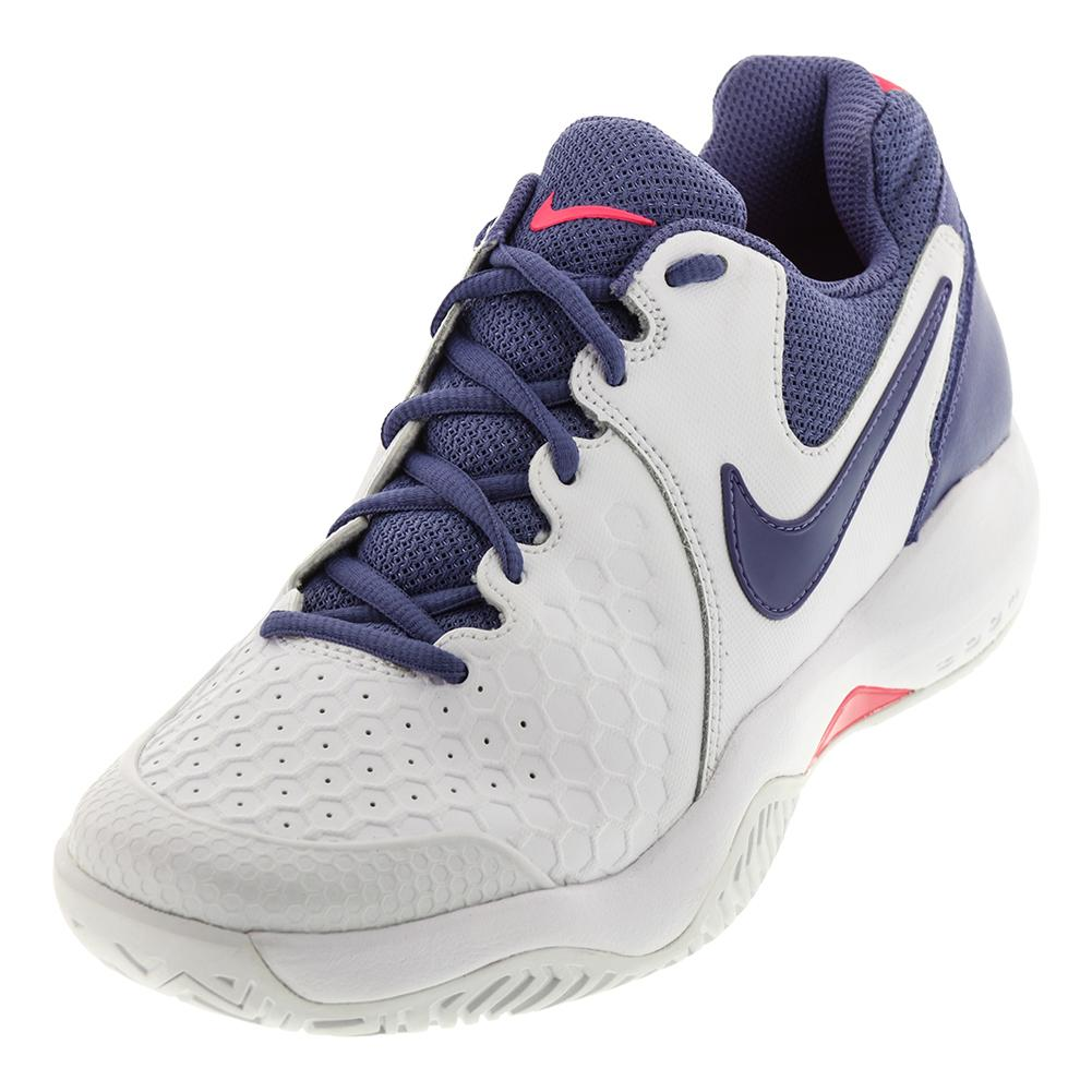 6b90d166862 Nike Women's Air Zoom Resistance Tennis Shoe in White and Purple Slate