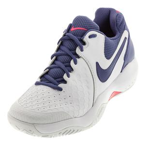Women`s Air Zoom Resistance Tennis Shoes White and Purple Slate