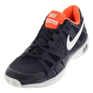 Men`s Air Vapor Advantage Tennis Shoes Thunder Blue and White