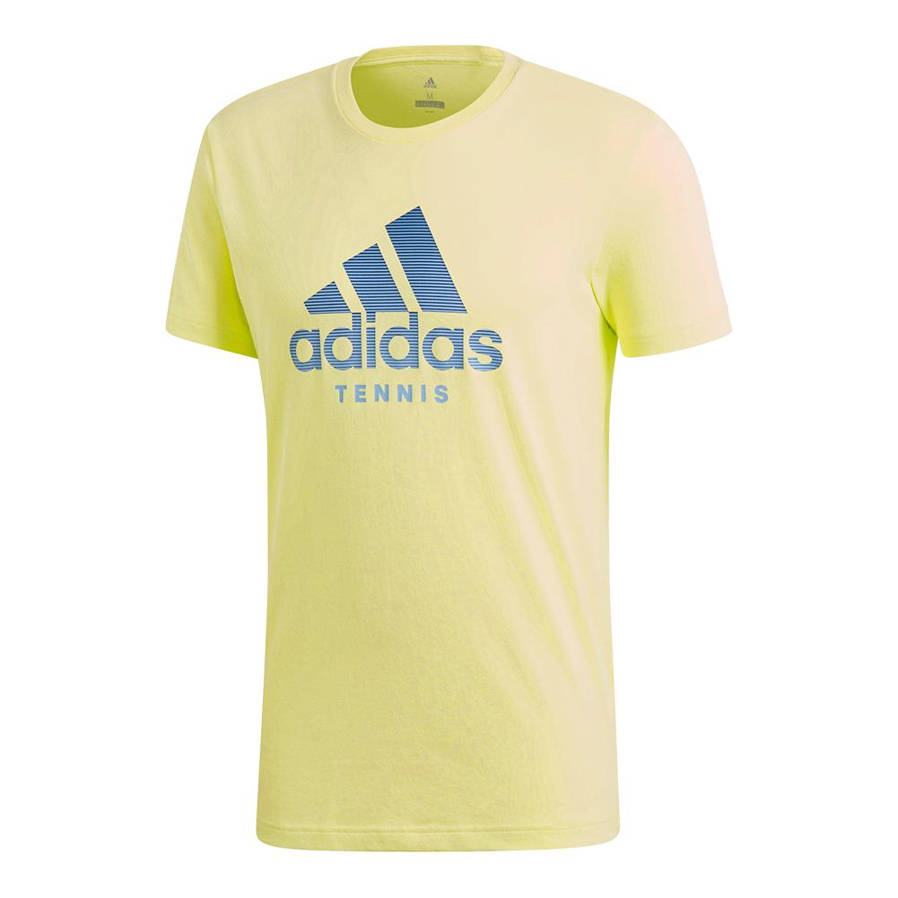 Men's Logo Tennis Tee Semi Frozen Yellow