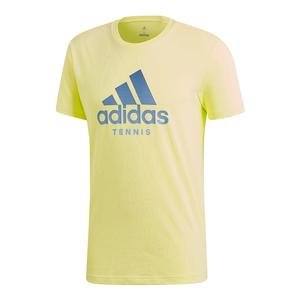 Men`s Logo Tennis Tee Semi Frozen Yellow