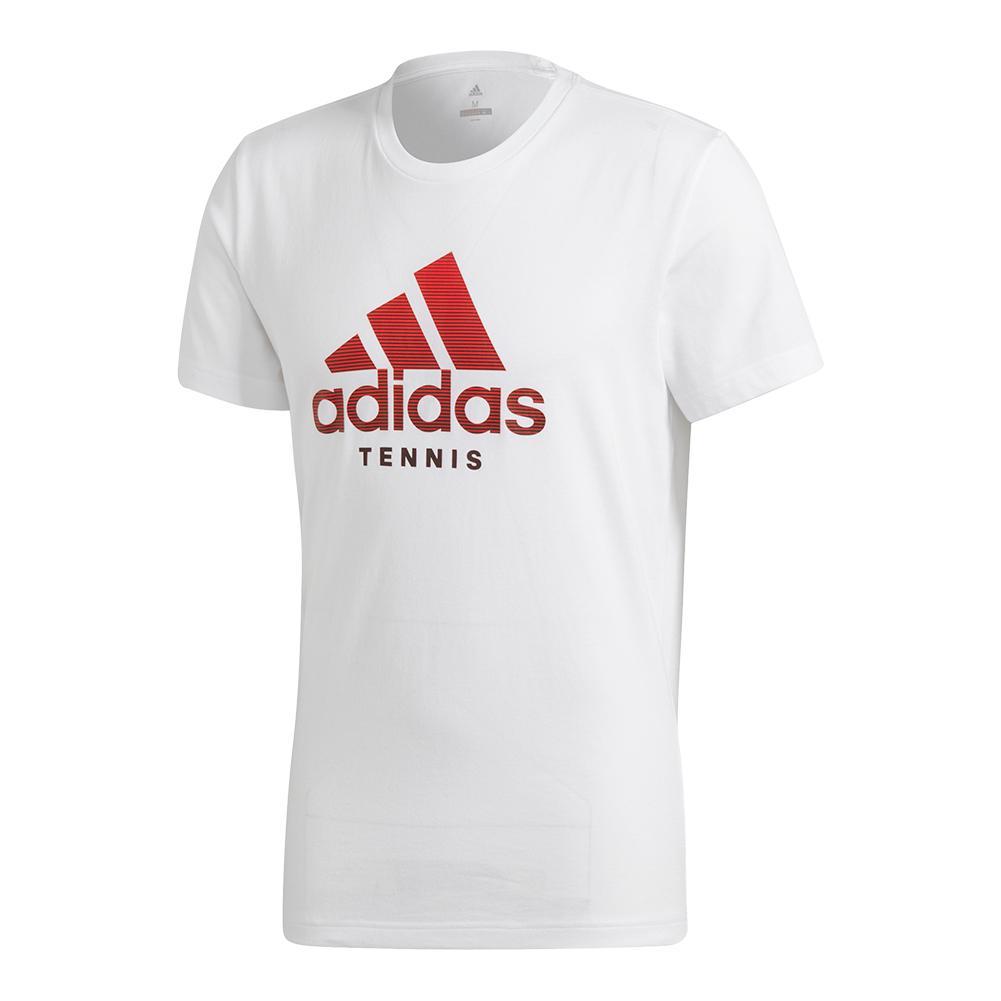 Men's Logo Tennis Tee White