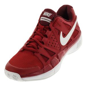 Men`s Air Vapor Advantage Tennis Shoes Gym Red and Vast Gray