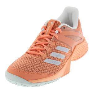 Women`s Adizero Club Tennis Shoes Chalk Coral and White