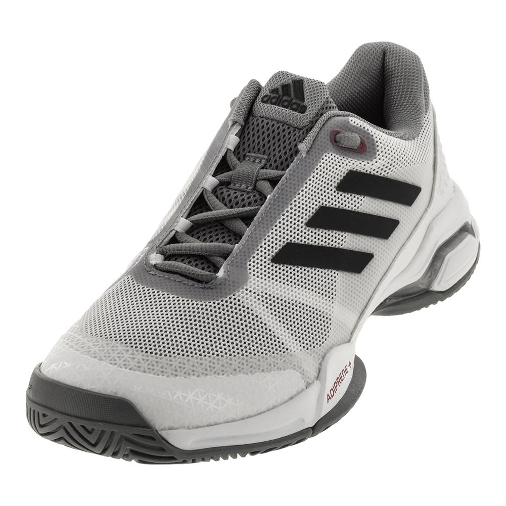 Men's Barricade Club Tennis Shoes White And Gray