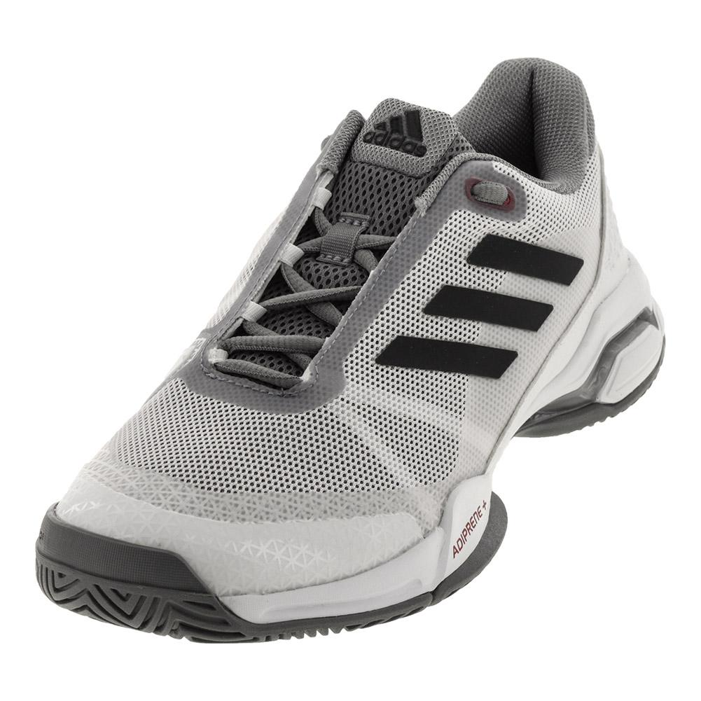 Juniors ` Barricade Club Tennis Shoes White And Gray
