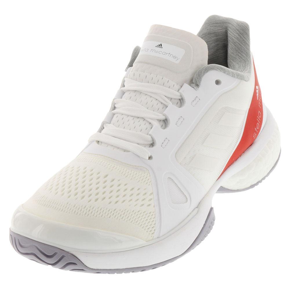 Adidas  mujer 's Stella McCartney barricada Boost zapatos tenis blancos