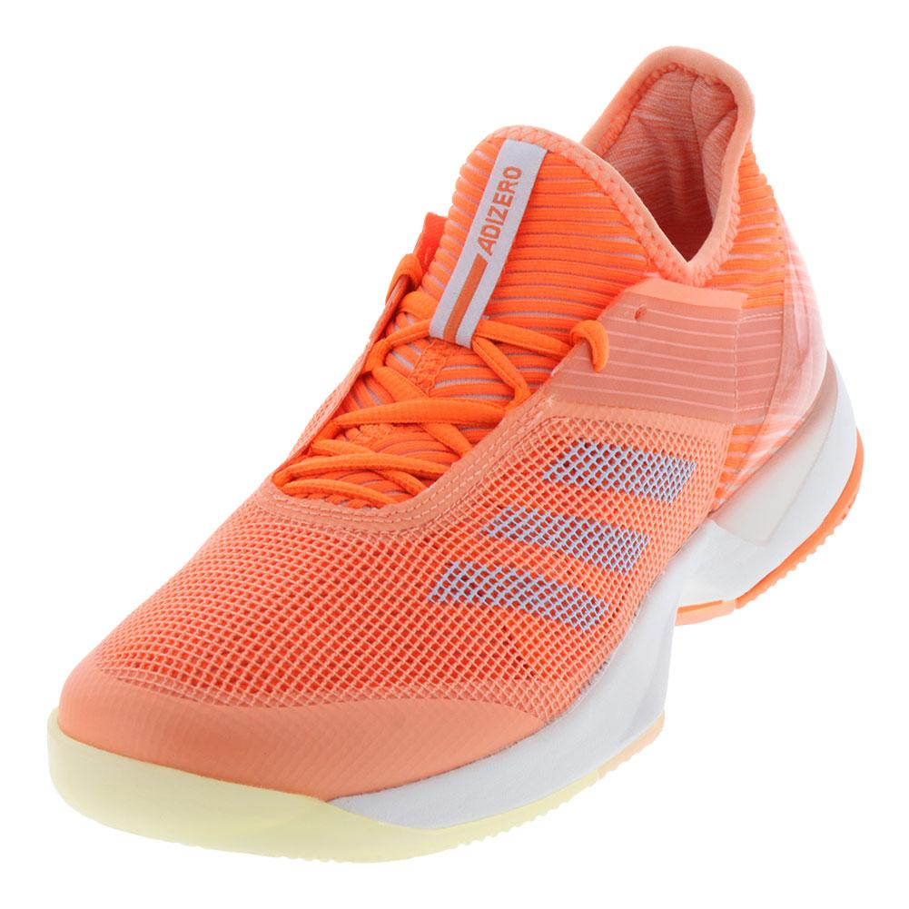 Women's Adizero Ubersonic 3.0 Tennis Shoes Chalk Coral And Hi- Res Orange