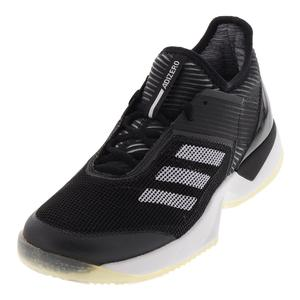 Women`s Adizero Ubersonic 3.0 Clay Tennis Shoes Black and White