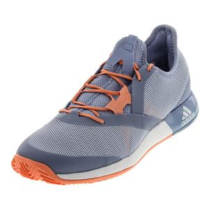 Women`s Adizero Defiant Bounce Tennis Shoes Chalk Blue and White