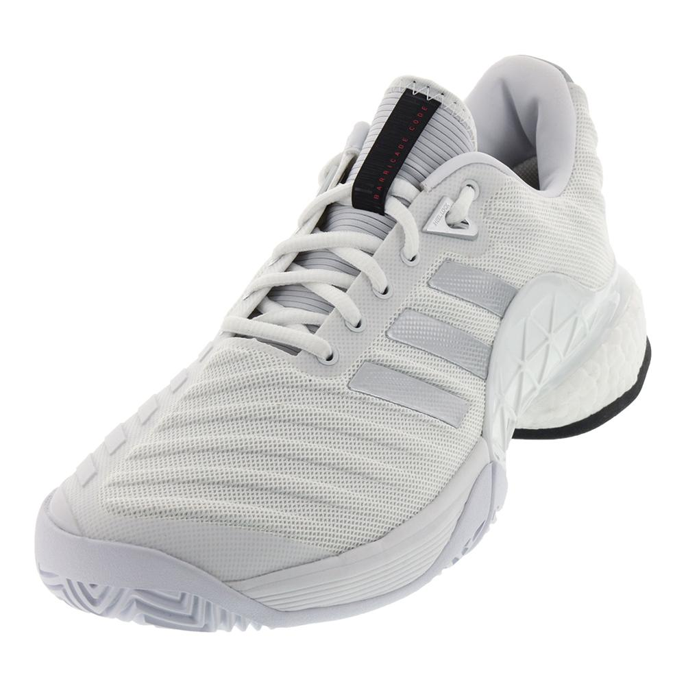 ADIDAS ADIDAS Men's Barricade 2018 Boost Tennis Shoes White And Matte Silver