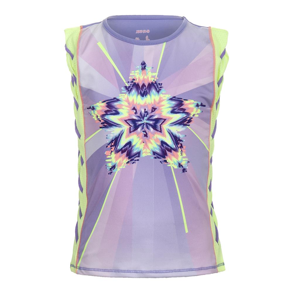 Girls'star Gaze Braided Muscle Tank Lemon Frost