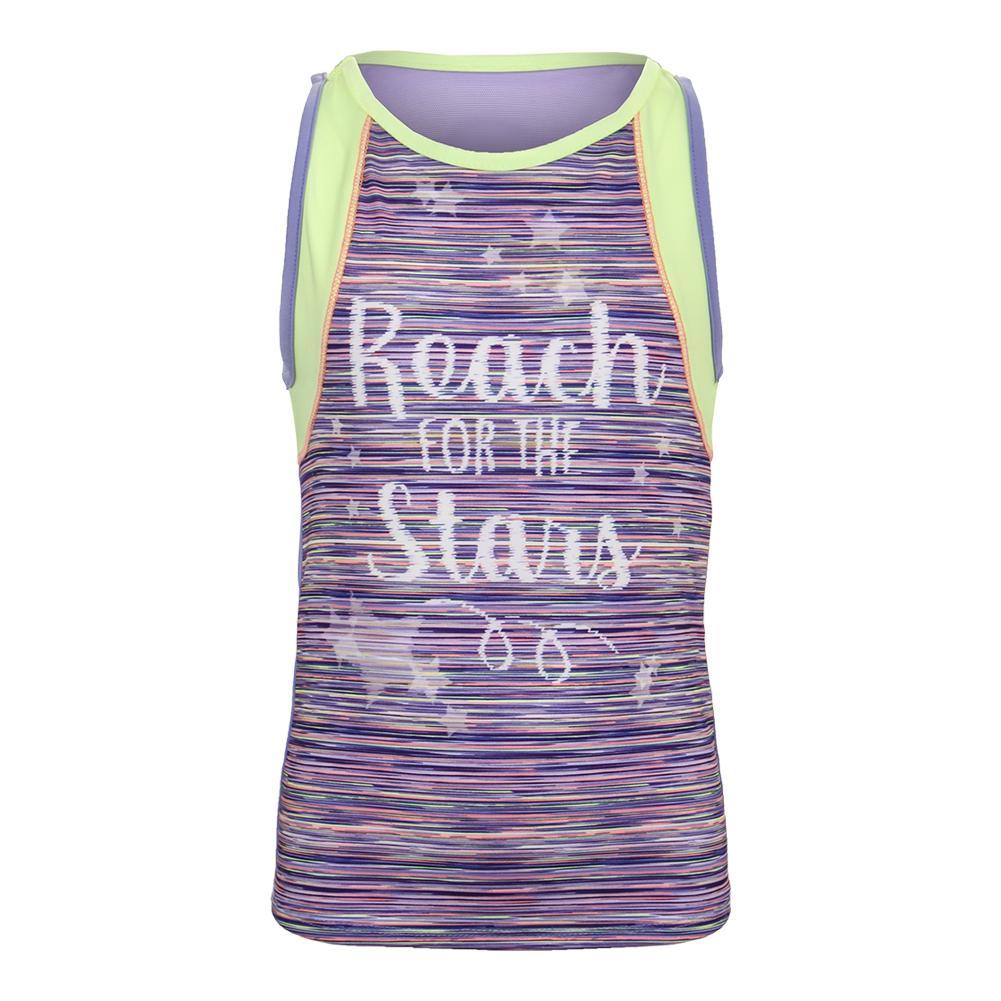 Girls ` Reaching Stars Tennis Tank Lilac