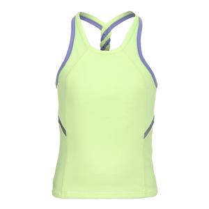 Girls` Breezy Back Braid Tennis Tank Lemon Frost