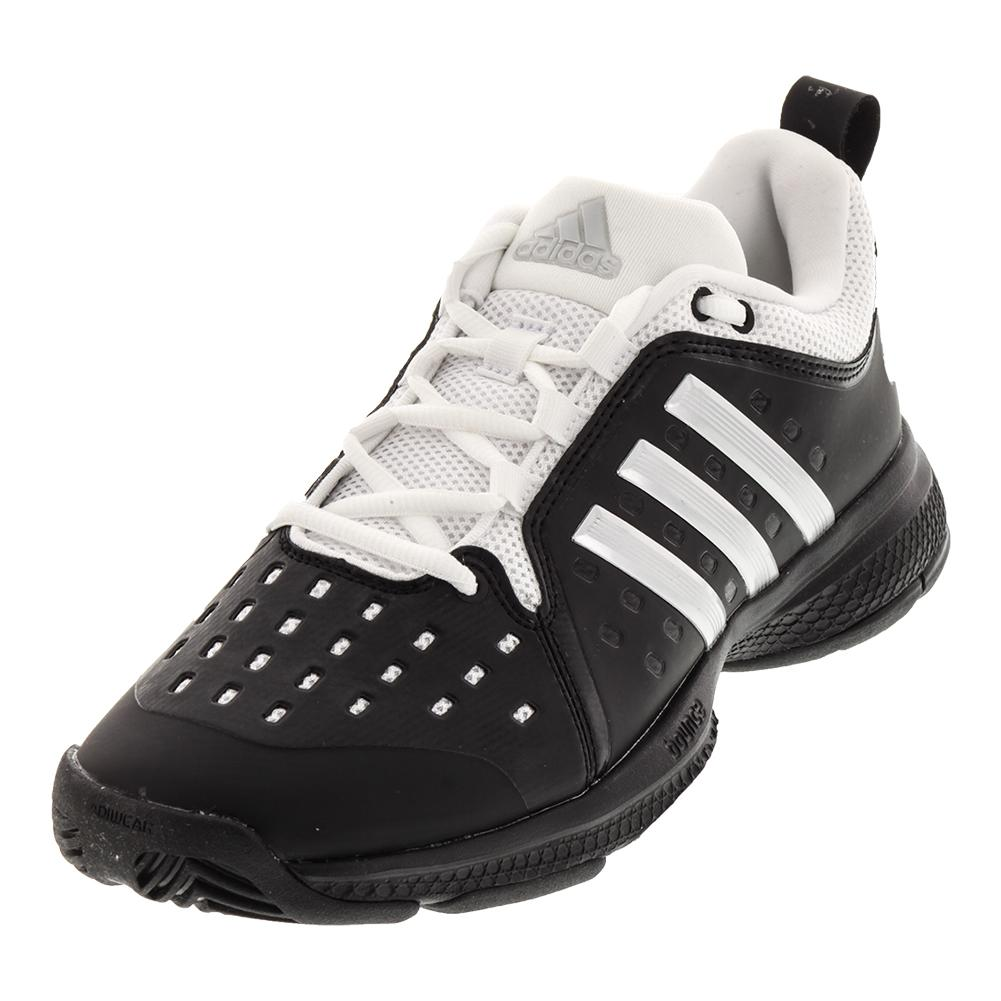 Juniors ` Barricade Classic Bounce Tennis Shoes Black And Silver Metallic