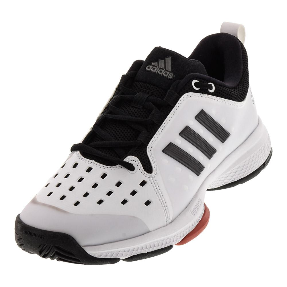 cfae018d46de64 ADIDAS ADIDAS Men s Barricade Classic Bounce Tennis Shoes White And Night  Metallic