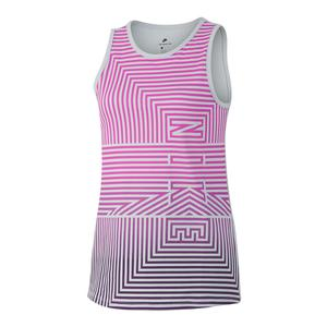 Girls` Sportswear Tank Pure Platinum and Hyper Magenta