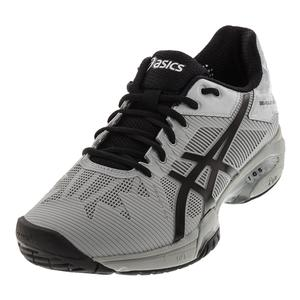 Men`s Gel-Solution Speed 3 Tennis Shoes Mid Gray and Black