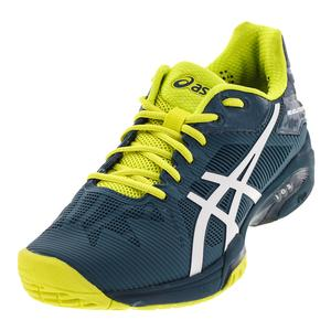 Men`s Gel-Solution Speed 3 Tennis Shoes Ink Blue and White