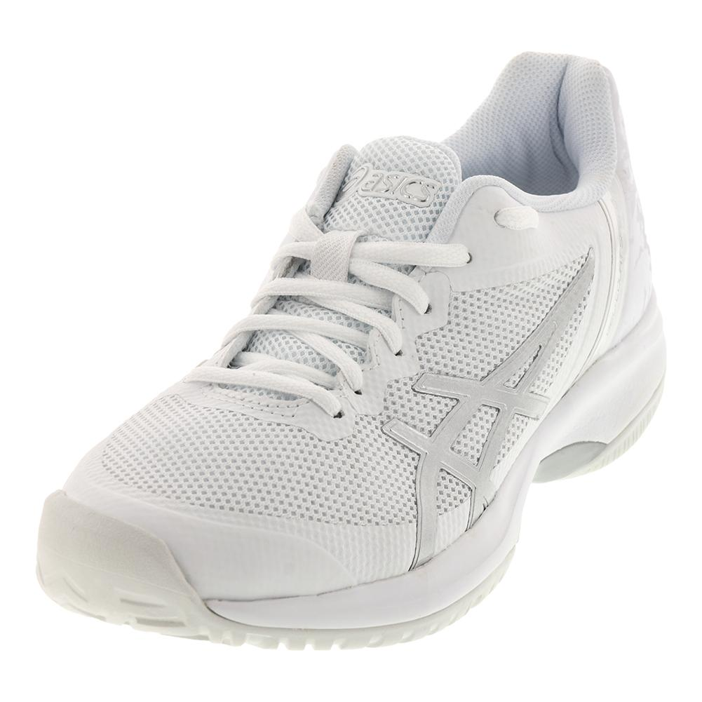 Men's Gel- Court Speed Tennis Shoes White And Silver