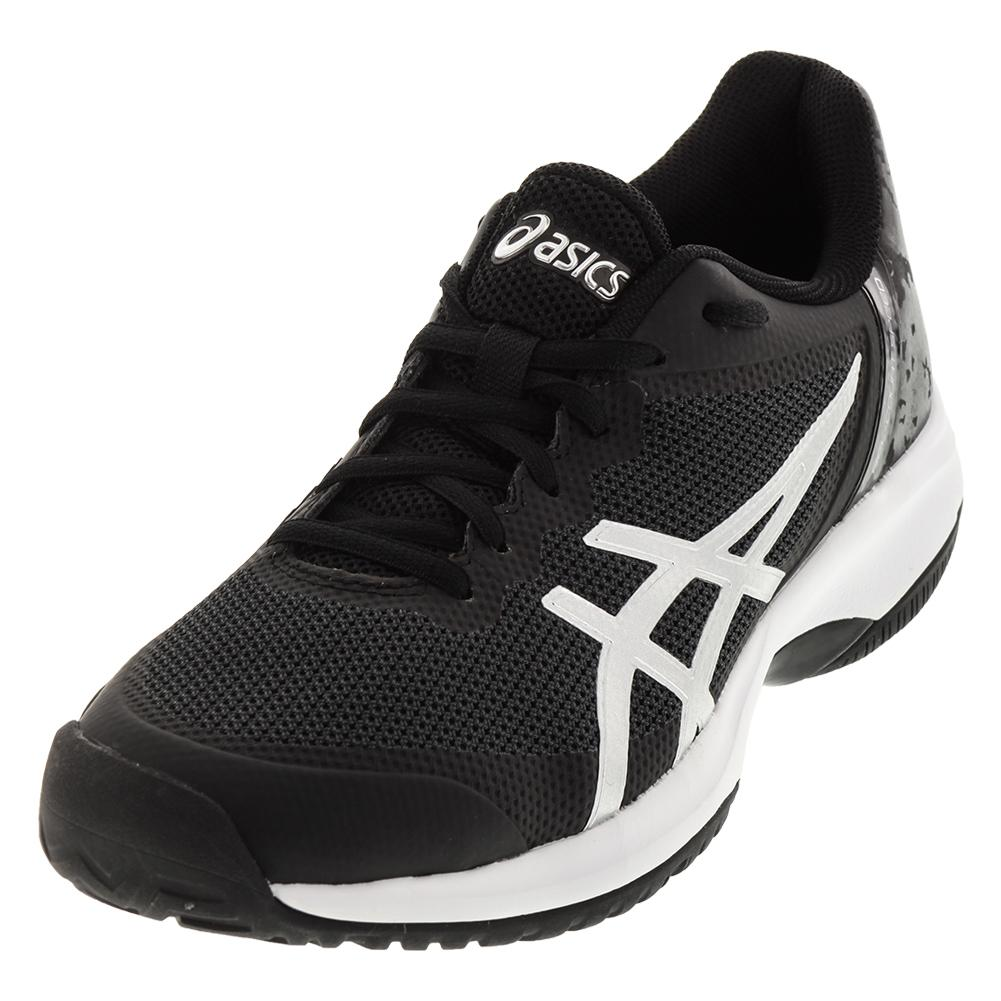 Men's Gel- Court Speed Tennis Shoes Black And Silver