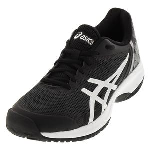 Men`s Gel-Court Speed Tennis Shoes Black and Silver