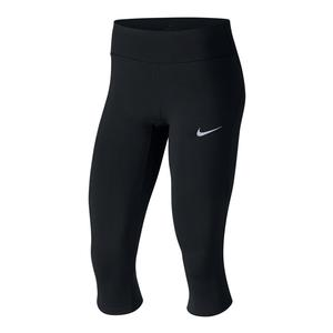 Women`s Power Epic Lux Running Capri Black