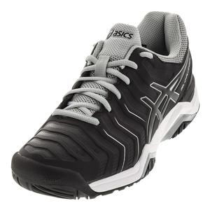 Men`s Gel-Challenger 11 Tennis Shoes Black and Mid Gray