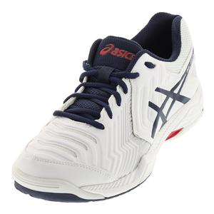 Men`s Gel-Game 6 Tennis Shoes White and Insignia Blue