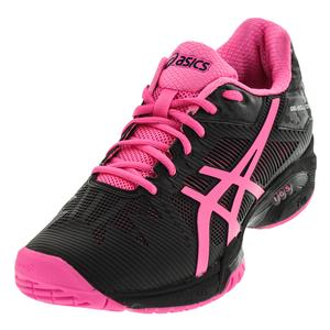 Women`s Gel-Solution Speed 3 Tennis Shoes Black and Hot Pink