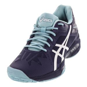 Women`s Gel-Solution Speed 3 Tennis Shoes Indigo Blue and White