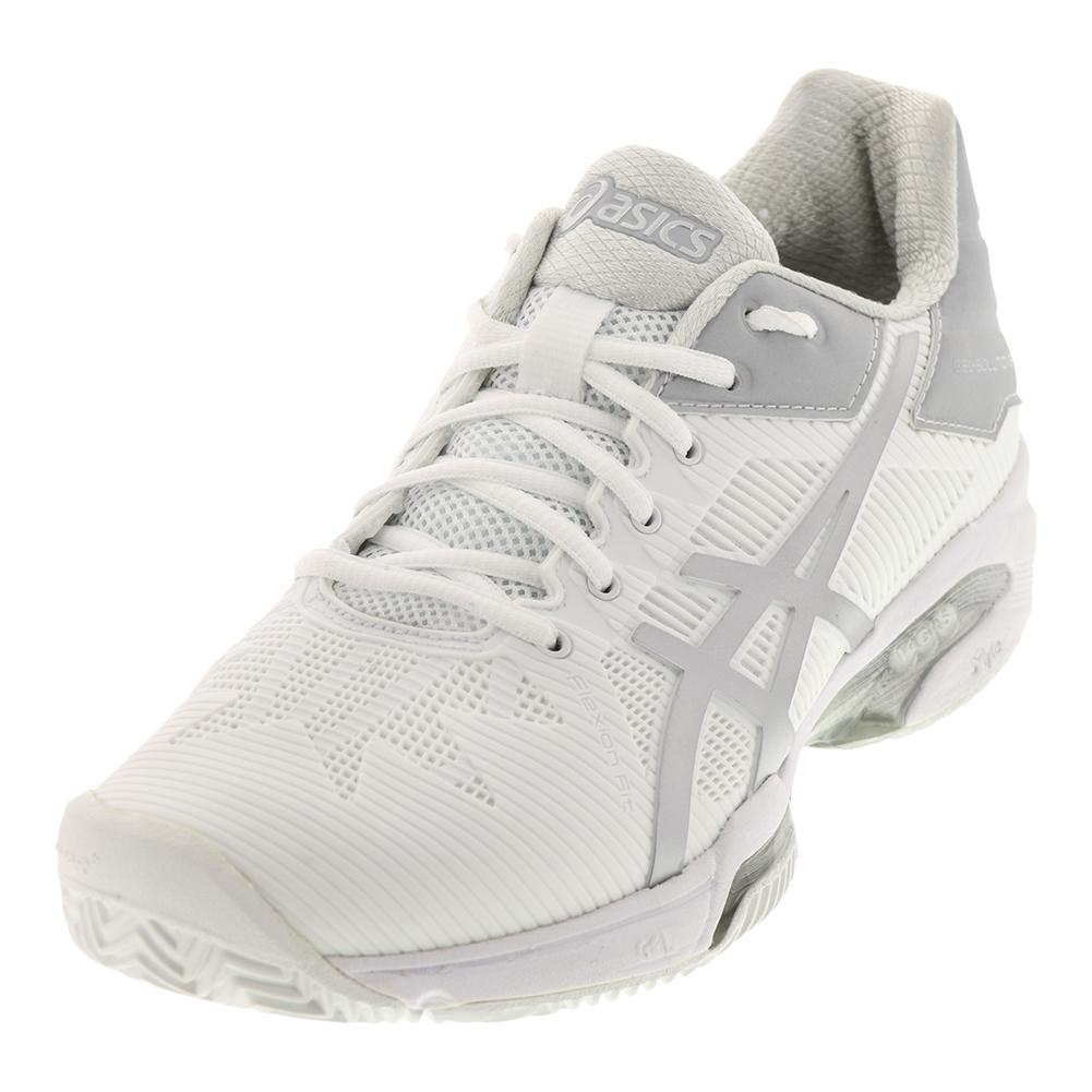 Women's Gel- Solution Speed 3 Clay Tennis Shoes White And Silver