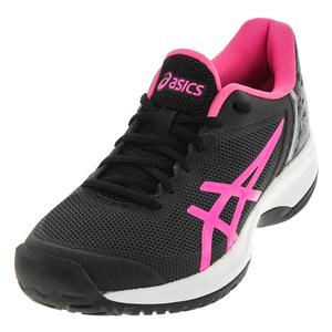 Women`s Gel-Court Speed Tennis Shoes Black and Hot Pink