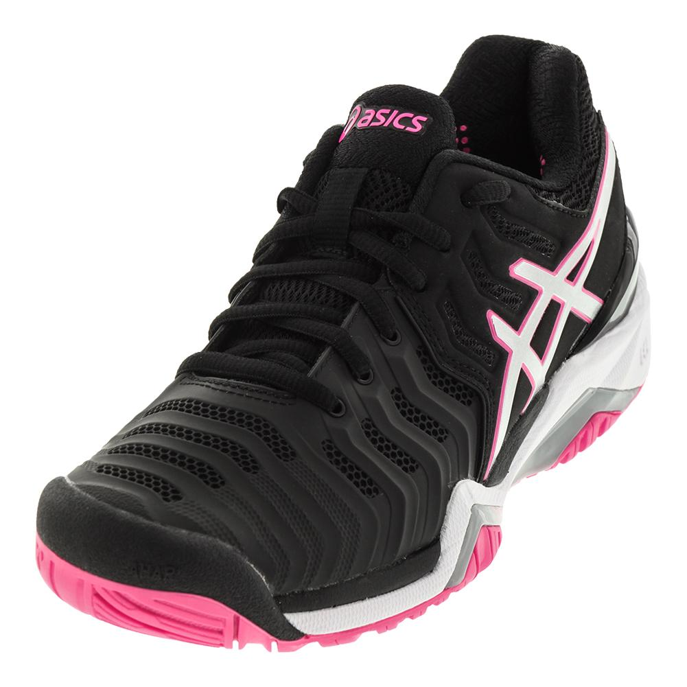 Women's Gel- Resolution 7 Tennis Shoes Black And Silver