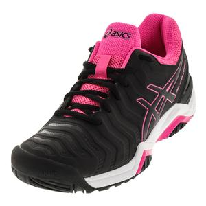 Women`s Gel-Challenger 11 Tennis Shoes Black and Hot Pink