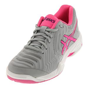 Women`s Gel-Game 6 Tennis Shoes Mid Gray and Hot Pink
