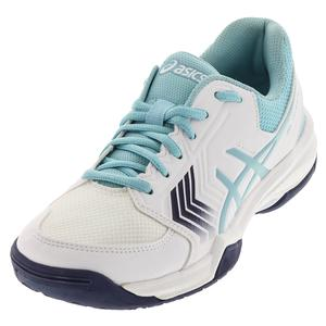 Women`s Gel-Dedicate 5 Tennis Shoes White and Porcelain Blue