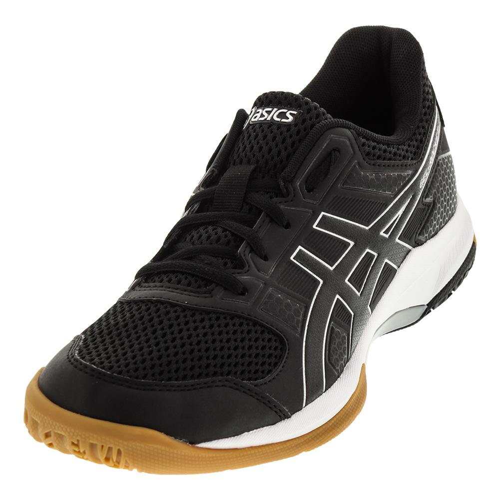 9a005478adf6d4 Asics Women s Gel-Rocket 8 Shoes Black and White